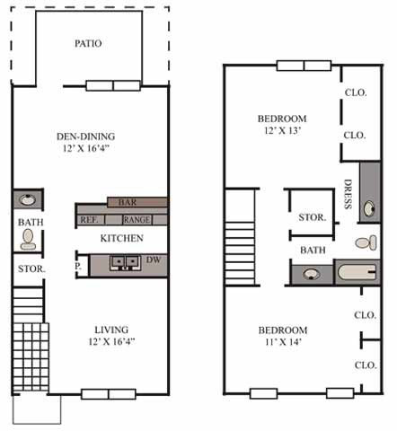 1,182 sq. ft. Wimberly floor plan