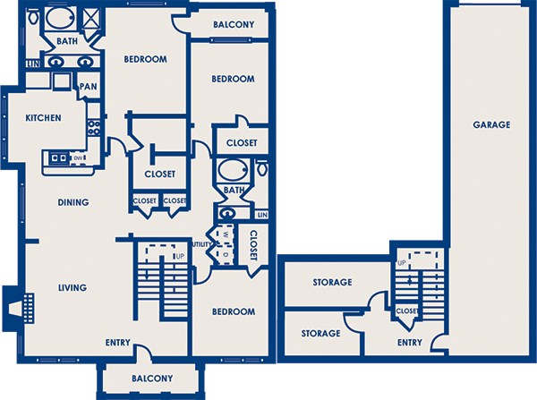 2,038 sq. ft. 32E floor plan