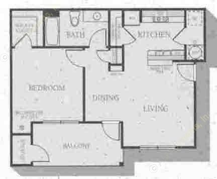 819 sq. ft. Shelbourne floor plan