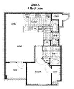 809 sq. ft. Madrid floor plan