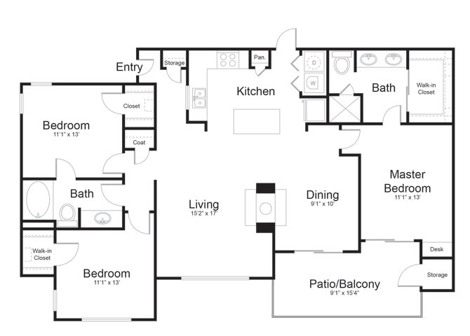 1,431 sq. ft. Lampasas floor plan