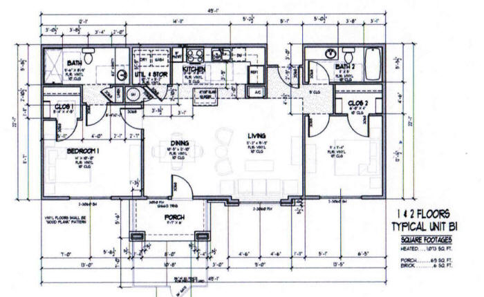 1,073 sq. ft. B1-60% floor plan