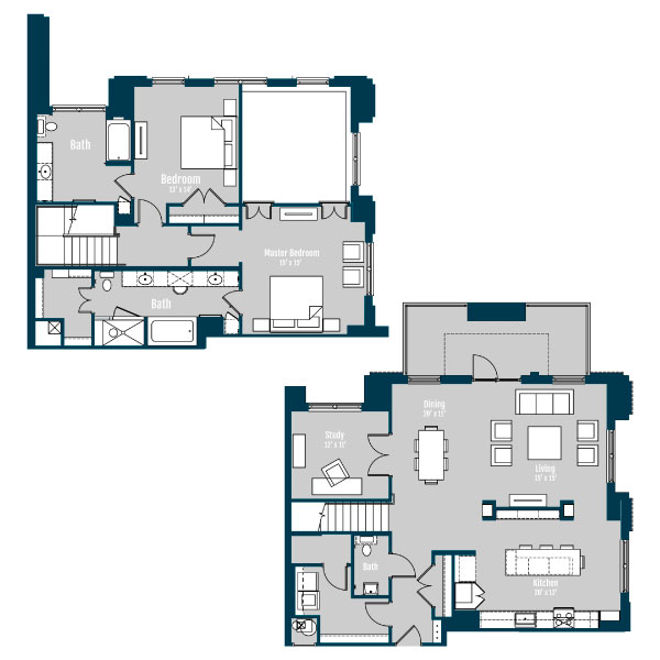 2,373 sq. ft. TH 4 floor plan