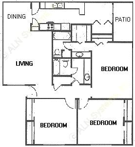 1,373 sq. ft. floor plan