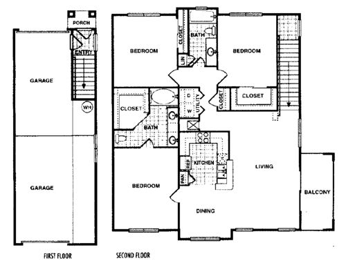 1,434 sq. ft. Cottonwood H floor plan