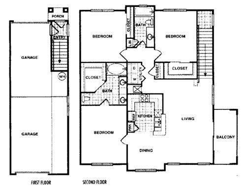 1,434 sq. ft. Cottonwood H floor plan