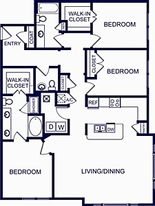1,656 sq. ft. Valencia Two floor plan