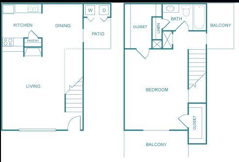 815 sq. ft. G floor plan