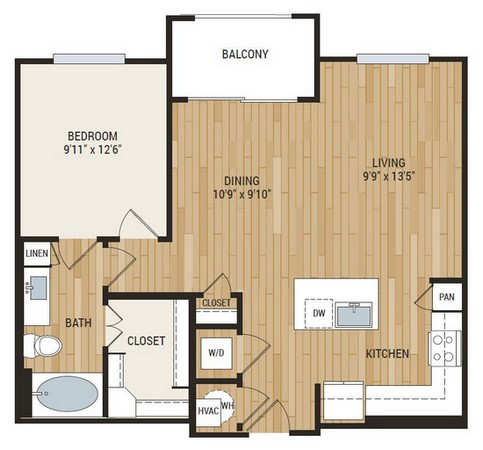 819 sq. ft. Walker floor plan