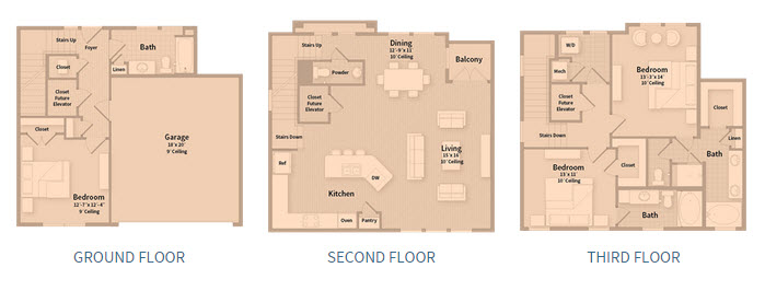 2,136 sq. ft. T1C floor plan