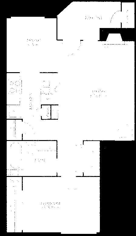 702 sq. ft. A5 floor plan