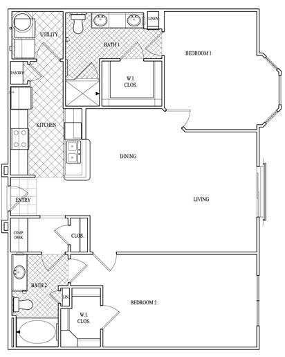 1,217 sq. ft. to 1,236 sq. ft. floor plan