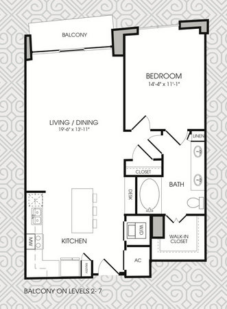 902 sq. ft. to 925 sq. ft. A8 floor plan