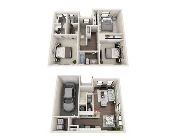 1,183 sq. ft. Sophia floor plan