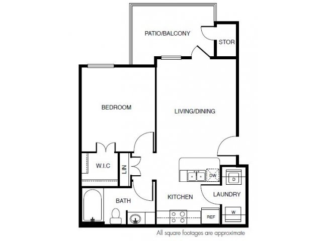 617 sq. ft. floor plan
