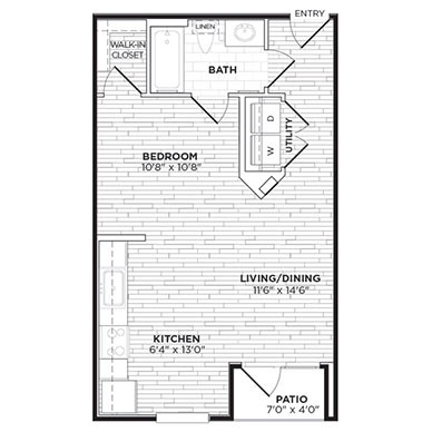 547 sq. ft. E1 floor plan
