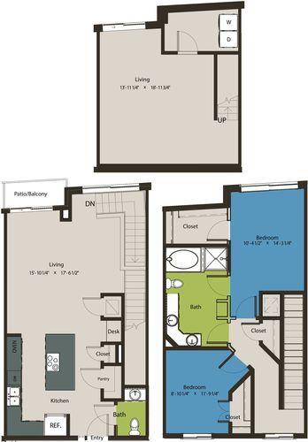 1,691 sq. ft. TSH floor plan