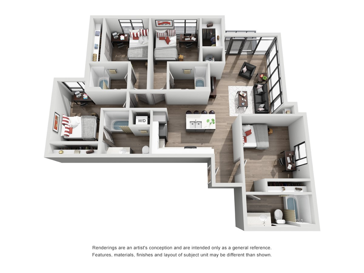 1,378 sq. ft. D2-Texan floor plan