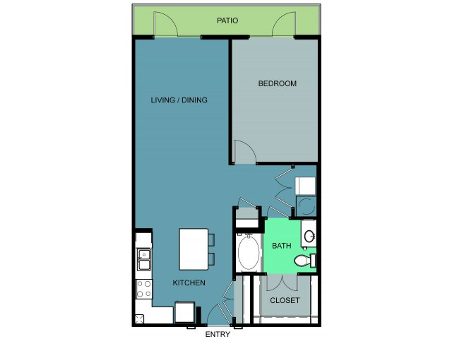 952 sq. ft. Mallick floor plan