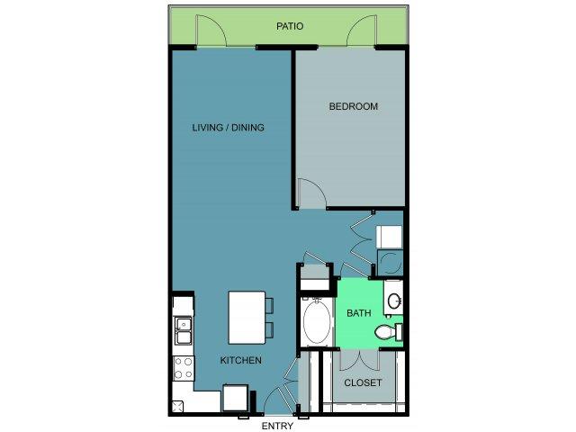 952 sq. ft. Mallick floor plan
