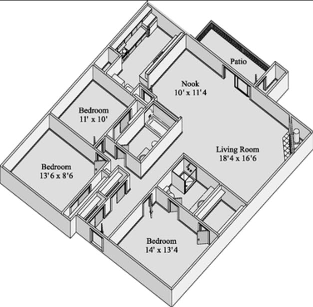 1,495 sq. ft. SUMMIT floor plan