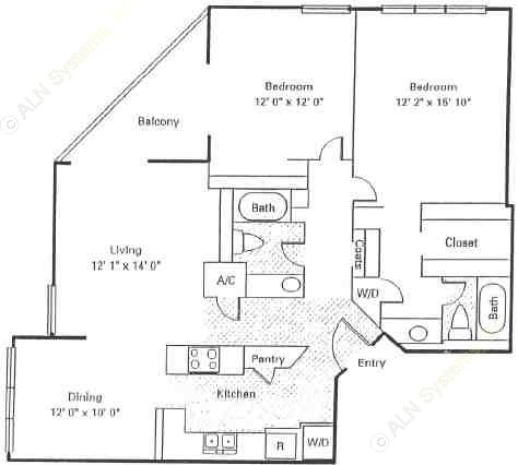 1,204 sq. ft. Marquis floor plan
