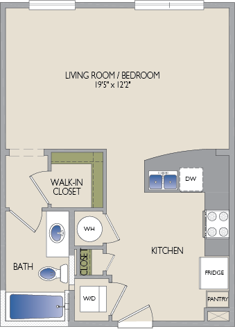 569 sq. ft. Alabama floor plan