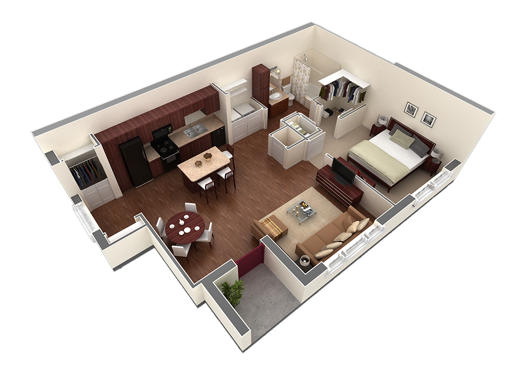 815 sq. ft. Orbison floor plan