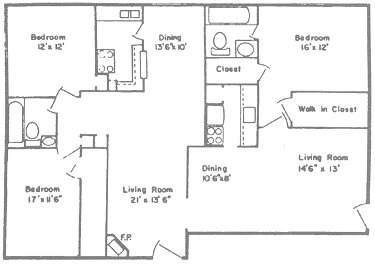 1,739 sq. ft. P floor plan