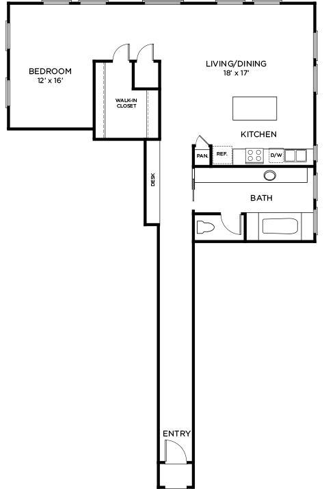 1,228 sq. ft. A12 floor plan