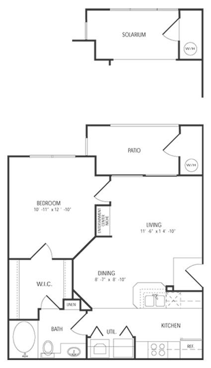 650 sq. ft. St Andrews floor plan