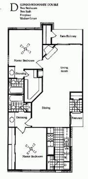 1,100 sq. ft. Gardenia floor plan