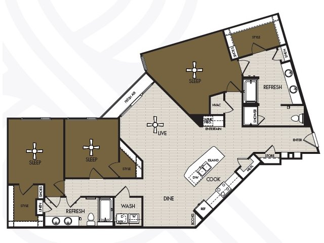 1,799 sq. ft. C2 floor plan