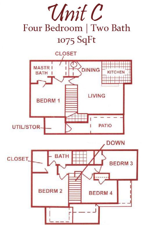 1,075 sq. ft. 50 floor plan