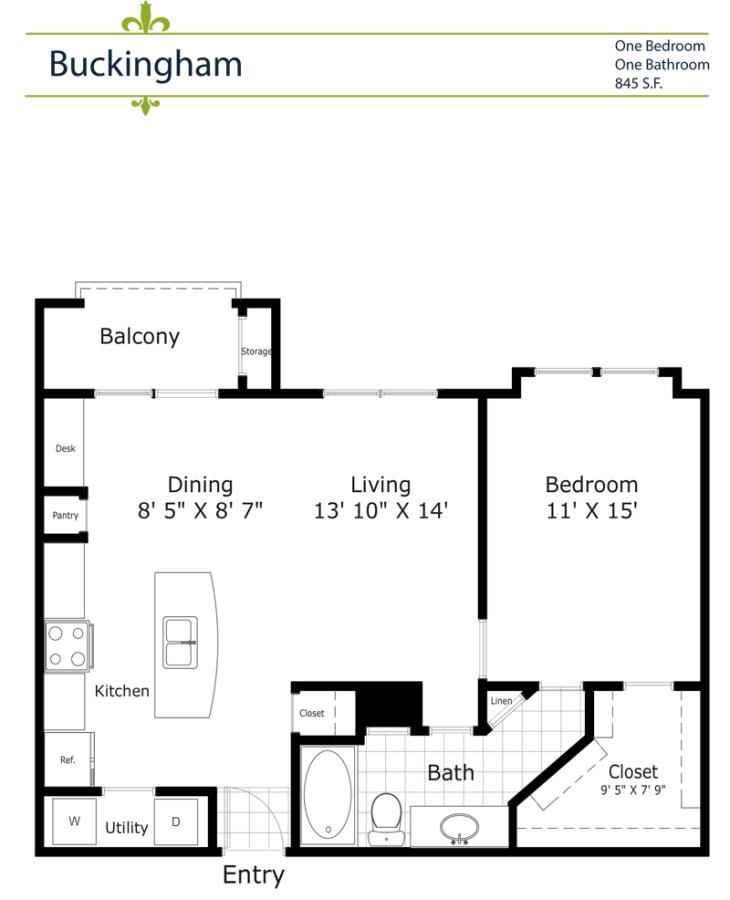 783 sq. ft. A3/Buckingham 2nd& 3rd Floor floor plan