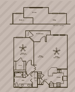 946 sq. ft. SPRINGS floor plan