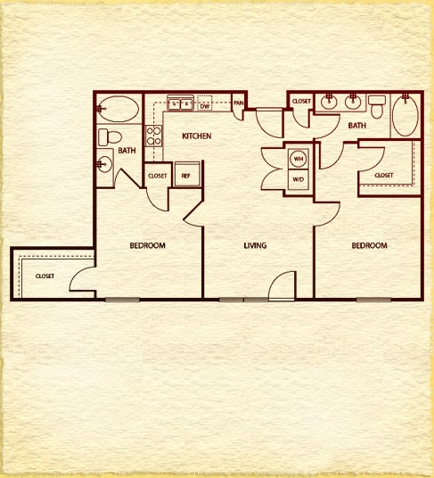 968 sq. ft. to 972 sq. ft. floor plan