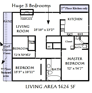 1,424 sq. ft. Monterey floor plan