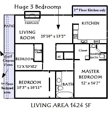 1,424 sq. ft. Monterey floor plan