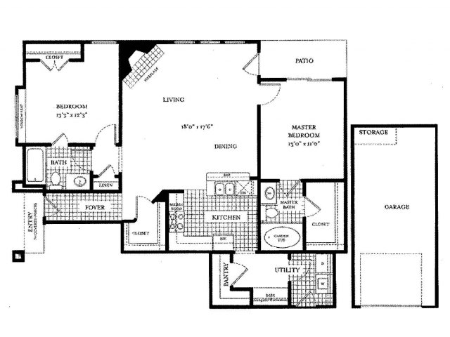 1,223 sq. ft. Monticelli floor plan