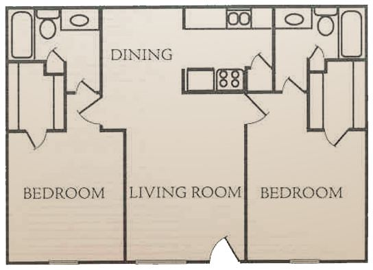 935 sq. ft. F floor plan