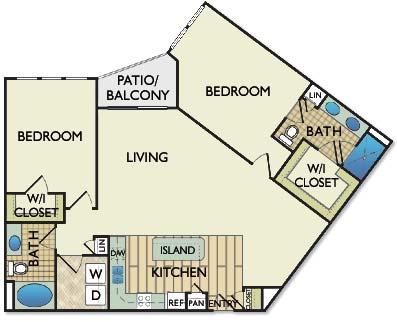 1,254 sq. ft. Van Gogh floor plan