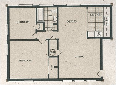 814 sq. ft. B1-230/60% floor plan