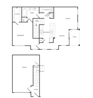 948 sq. ft. A4 floor plan