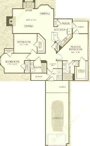 1,403 sq. ft. C1-L floor plan