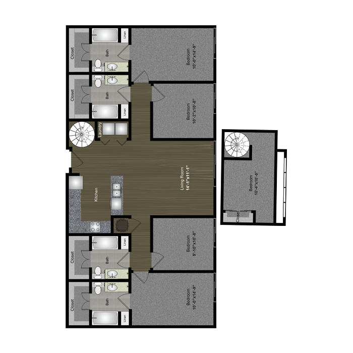 1,772 sq. ft. Hill Country Loft floor plan