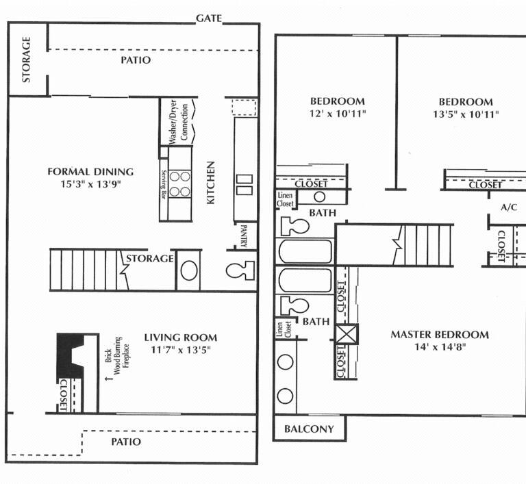 1,645 sq. ft. D floor plan