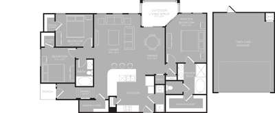 1,498 sq. ft. Superior floor plan