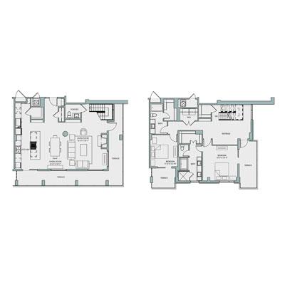 2,198 sq. ft. PH2 floor plan