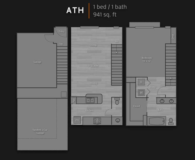 941 sq. ft. ATH floor plan